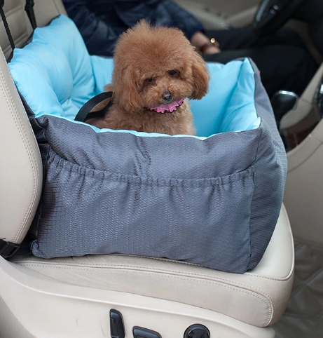 Pet Supplies Chew Resistant Waterproof Oxford Cloth Car Seat Pet Car Dog Bed With Safety Belt