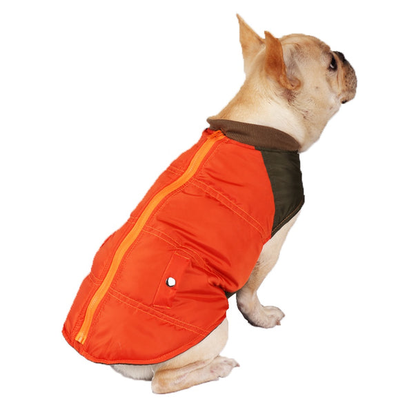 Warm Cozy Pongee  Pet Clothes Dog Jackets Clothes Dog Coat
