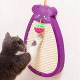 Durable cat toy cat sisal scratcher with bell,3Colours(Purple, Blue, Black)
