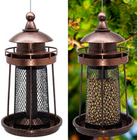 Wild Bird Feeder Hanging for Garden Yard Outside Decoration, Lighthouse Shaped