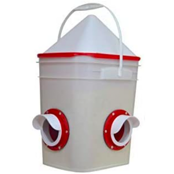 Chicken Feeder-Holds 20 Pounds-Pellets-Crumbles-Grain in Bucket