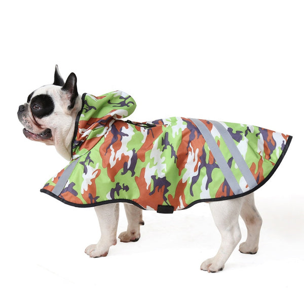 Dog Rain Coat Puppy Waterproof Clothes Pet Dog Camouflage Clothes Raincoat For Dog