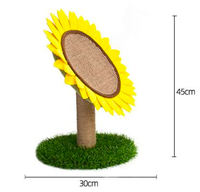 Sunflower cat scratcher cat climbing tree with sisal scratch post