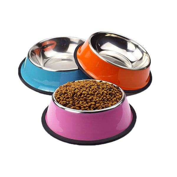 Stainless Steel Dog Bowl Pet Feeder Dog Food Cup
