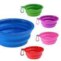 Travel Pet Dog Bowl Portable Silicone Pet Bowls Walking Dog Dish Bowl