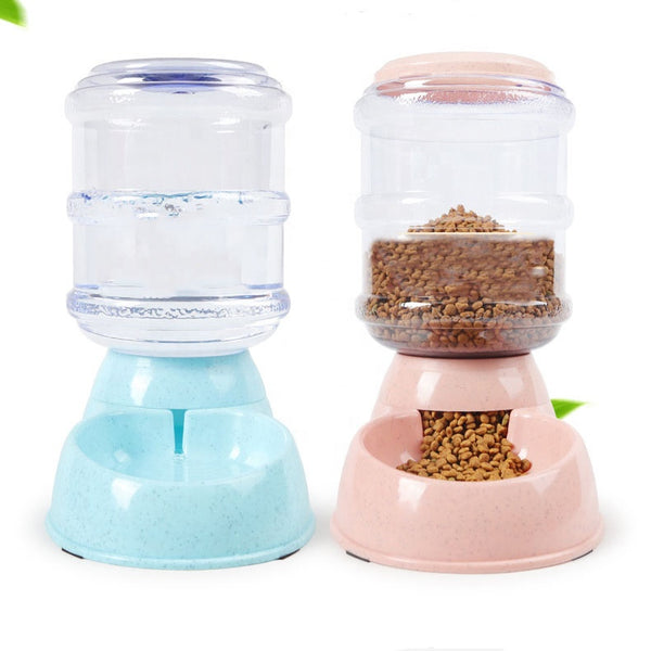 3.8L Eco Friendly Plastic Pet Dog Cat Food Water Dispenser Pet Water Feeder