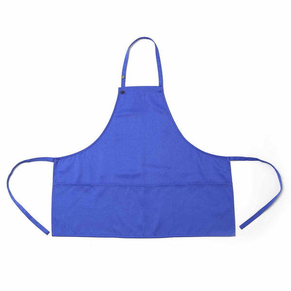 Unisex Apron Bulk Machine Washable for Feeder Kitchen Crafting BBQ Drawing Outdoors ( Royal Blue)