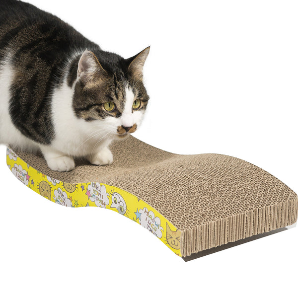 Cat Scratcher Pad - Cat Cardboard Scratch Durable Scratching Pad Reversible