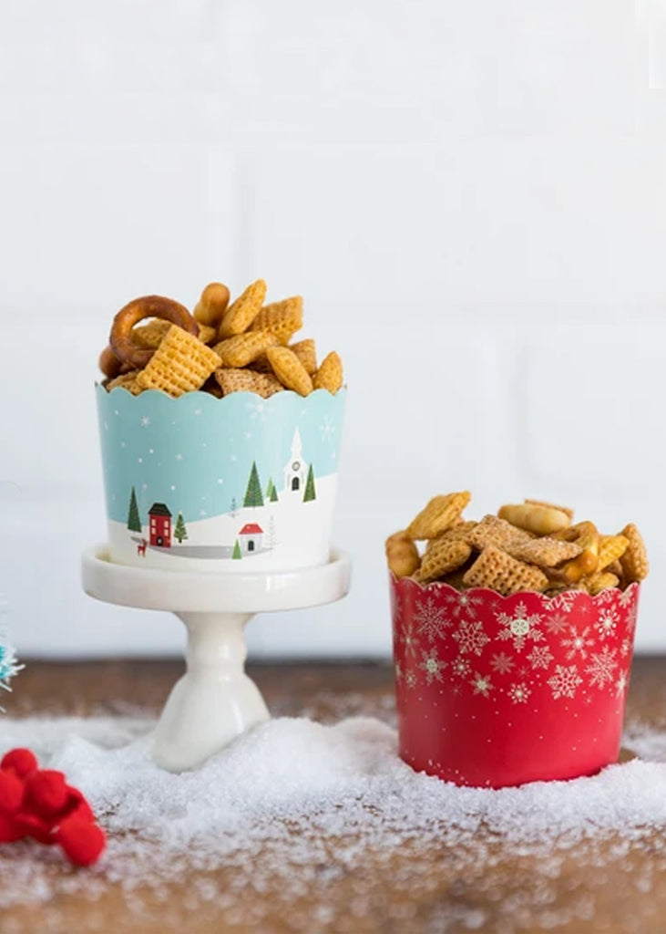 Christmas Scene Food Cups
