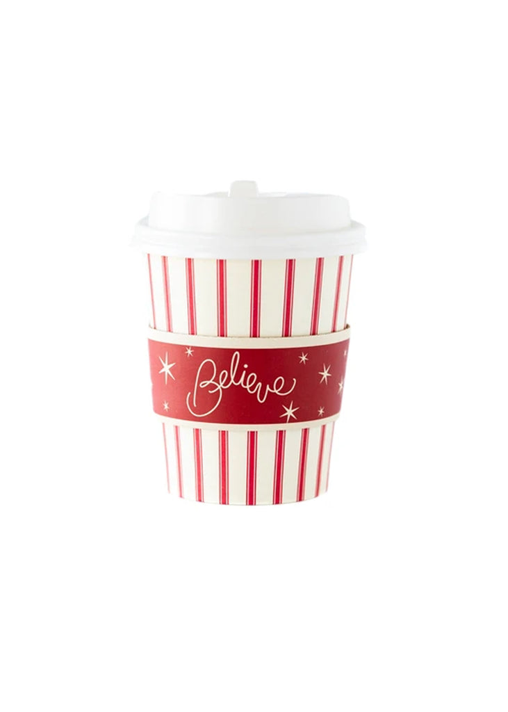 Red Stripe Cozy Cup