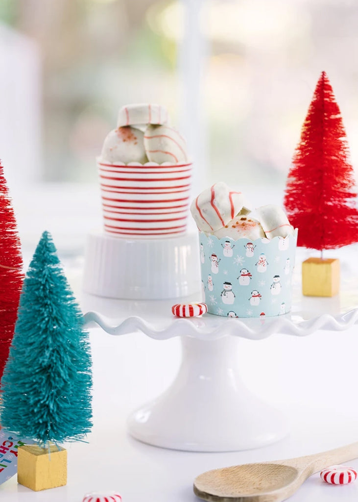 Snowman and Striped Food Cups