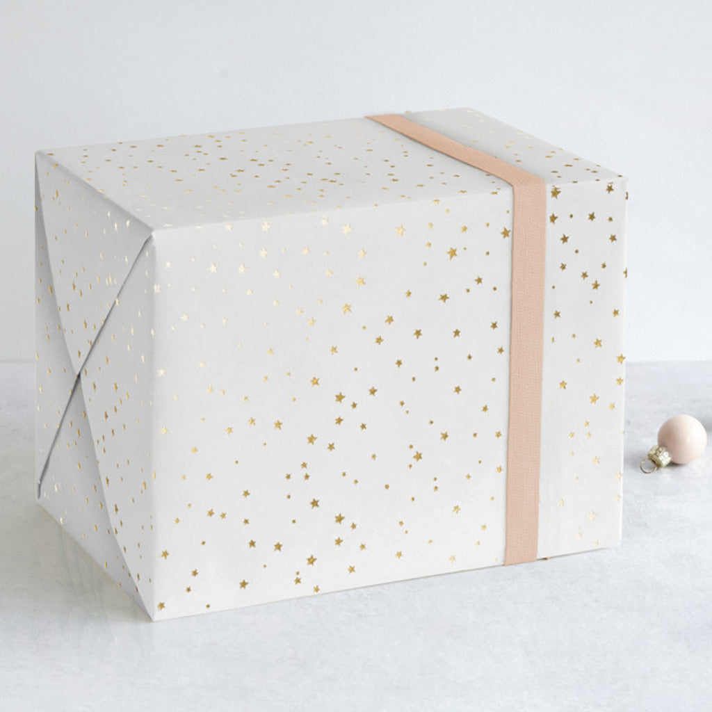 Starry Celebration Foil-Pressed Gift Wrap Sheets