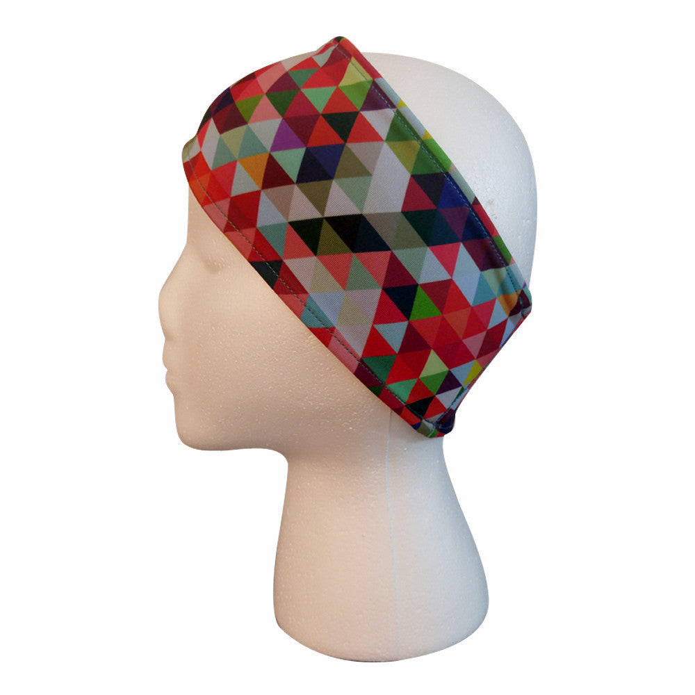 Geometric Performance Headband Headbands - lineagewear