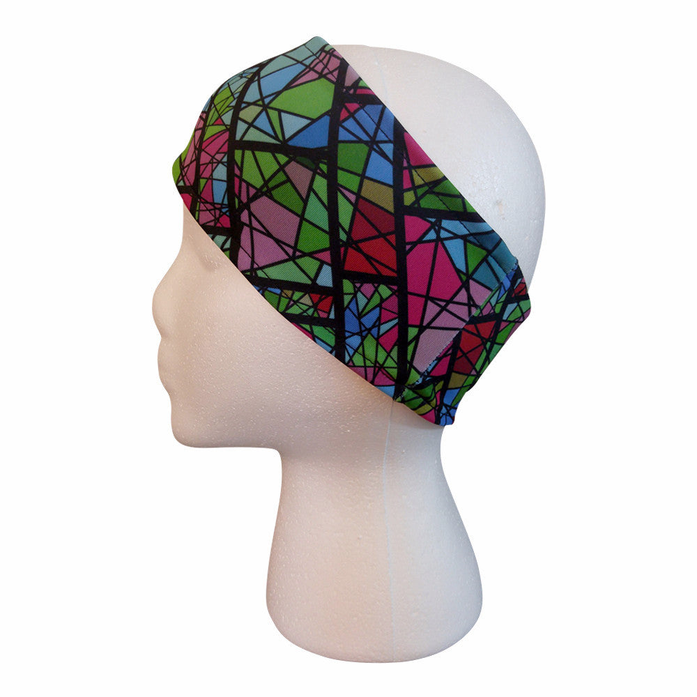 Stained Glass Performance Headband Headbands - lineagewear