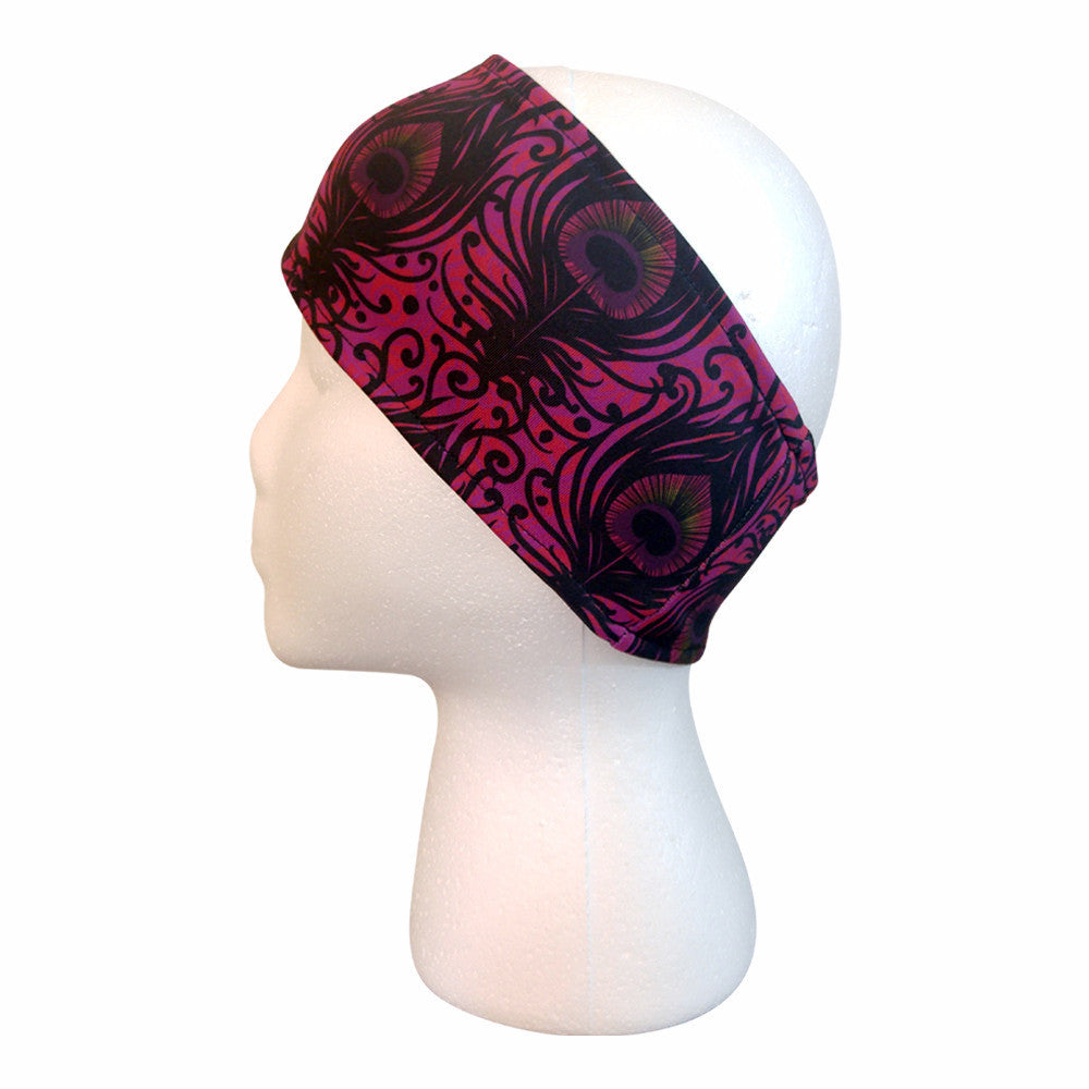 Sunset Peacock Performance Headband Headbands - lineagewear