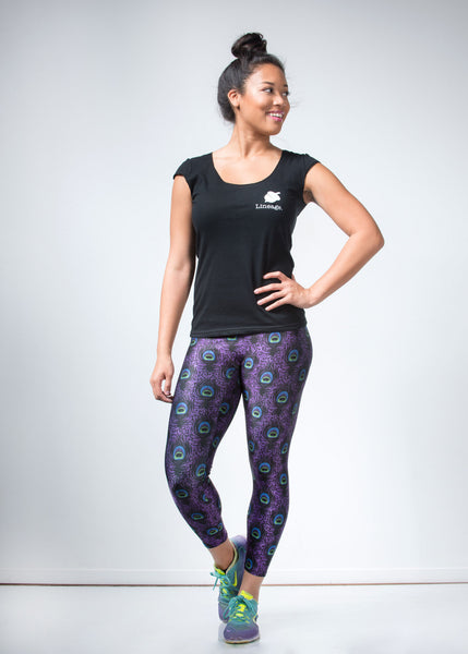 New Purple Peacock Leggings - lineagewear - 1