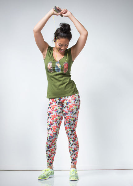 Geometric Leggings - lineagewear - 1