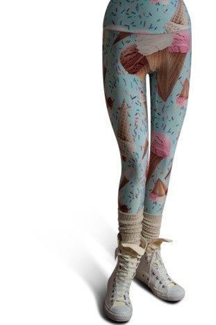 Ice Cream Leggings - lineagewear - 1
