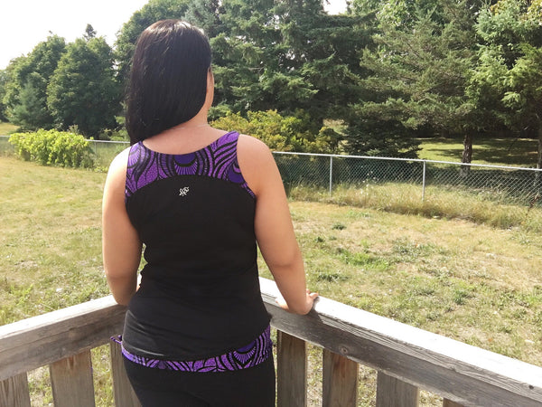 Purple Peacock Tank Tank Top - lineagewear