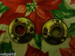 2 Original Antique Brass Door/Drawer Knob Back Plates 45mm Diameter (Lots avail)