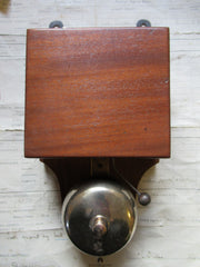Restored Antique Wood & Brass Electric Doorbell - 12 volts
