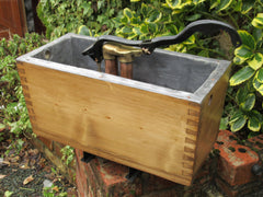 "Restored Wooden High Level Toilet Cistern - ""Plain"" Antique Pine Finish"