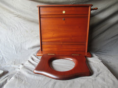 Shanks & Co Barrhead Antique Mahogany Semi High Level Toilet Cistern & Seat