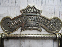 Antique Solid Toilet Roll / Paper Holder 'Requisite' - London