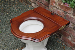 Antique Mahogany High Level Throne Toilet Seat