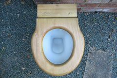 Antique High Level Wooden Toilet Seat Professionally Restored