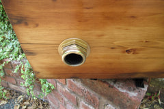 "Restored Wooden Japkap High Level Toilet Cistern - ""Plain"""