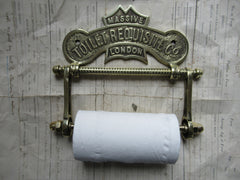 Brass Toilet Roll / Paper Holder 'Requisite' - London