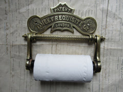 Solid Brass Toilet Roll / Paper Holder 'Requisite' - London
