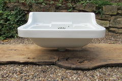 Vintage Porcelain Wall Hung Bathroom Sink + Brackets - Royal Doulton