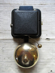 Small Vintage Bakelite & Brass Electric Doorbell - 24 volts