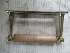 Simplistic Solid Brass Toilet Roll / Paper Holder