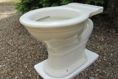 "Antique 1800s High Level White Slip Earthenware Toilet - ""The Kingston"""