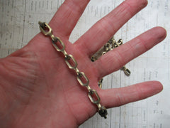 Antique High Level Toilet Cistern Pull and Brass Chain - Pull