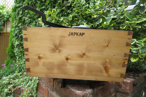 "1906 Restored Wooden High Level Toilet Cistern ""Japkap"""