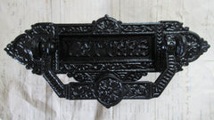 Antique Kenrick Cast Iron Letterbox + Knocker 46