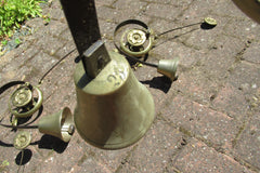 Vintage Servants / Butler Mechanical Brass Door Bell - 5 available
