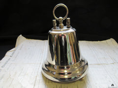 Restored Art Deco Chromed Brass Hanging Door Bell - Self Contained 4-12v