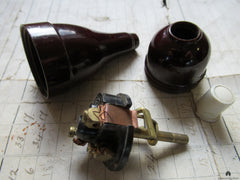 Vintage Bakelite Electric Servants Bell Push - Long