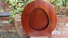 Antique Wooden High Level Toilet Seat with Lid - Mahogany