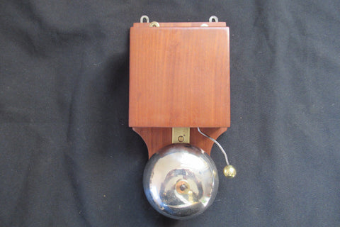 Restored Antique Wood & Steel Electric Doorbell - 6 - 12 volts