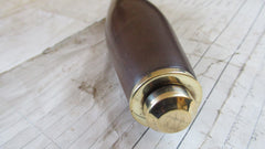 Antique Wood and Brass High Level Toilet Cistern Pull - Lignum Vitae?