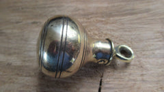 Vintage Brass High Level Toilet Cistern Chain Pull - Bulbous