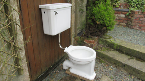 """Standard, Modernus"" Vintage 1930/50s Art Deco High Level Toilet Set - Cistern & Pipe"