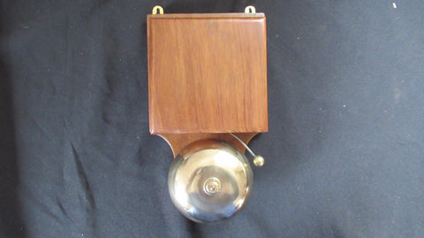 Large Restored Brass and Wood Electric Door Bell - 9-12 Volts