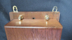 Very Large Restored Brass and Wood Electric Door Bell - 9-12 Volts